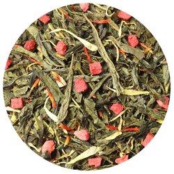 Чай зеленый Клубника со сливками, ароматизированный в чайном магазине BestTea, фото