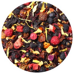 Чай фруктовый Красный сарафан, ароматизированный в чайном магазине BestTea, фото