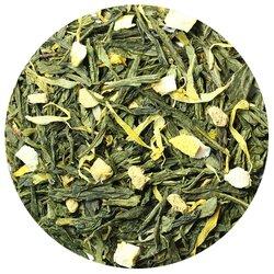 Чай зеленый Лимон с имбирем, ароматизированный в чайном магазине BestTea, фото