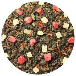 Чай зеленый Земляника со сливками, ароматизированный в чайном магазине BestTea, фото