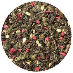 Чай зеленый Малина со сливками и имбирём, ароматизированный в чайном магазине BestTea, фото