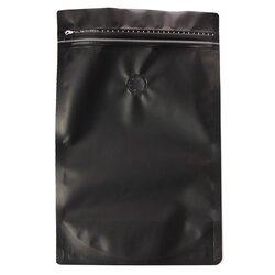 Пакет для кофе Черный с зипом и клапаном, 286*177*85 мм, Цвет: Черный в чайном магазине BestTea, фото