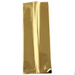 Пакет для чая фольгированный Золотистый 100г, 200*70*55 мм в чайном магазине BestTea, фото