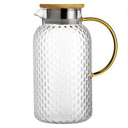 Кувшин стеклянный с желтой ручкой 1900 мл, Объем мл: 1900 в чайном магазине BestTea, фото