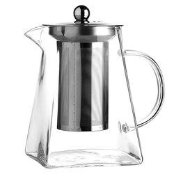 Чайник стеклянный заварочный с квадратным дном, 700 мл, Объем мл: 700 в чайном магазине BestTea, фото