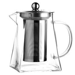 Чайник стеклянный заварочный с квадратным дном, 900 мл, Объем мл: 900 в чайном магазине BestTea, фото