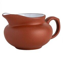 Чахай глиняный (сливочник-молочник) 120 мл, Вес г: 120, Объем мл: 120, Диаметр мм: 70, Цвет: Коричневый в чайном магазине BestTea, фото